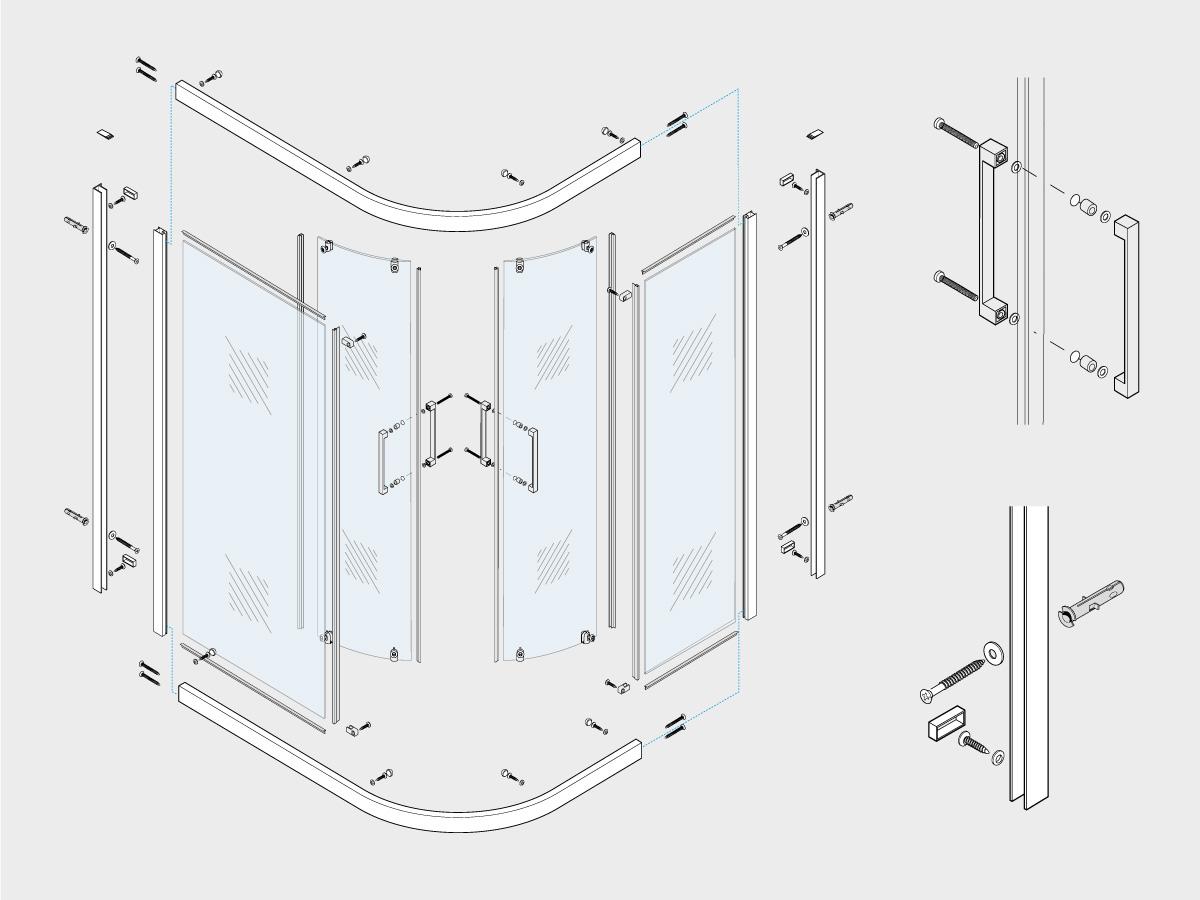 Istruzioni Montaggio Cabina Doccia.Realizzazione Istruzioni Di Montaggio Boc Doccia Studio