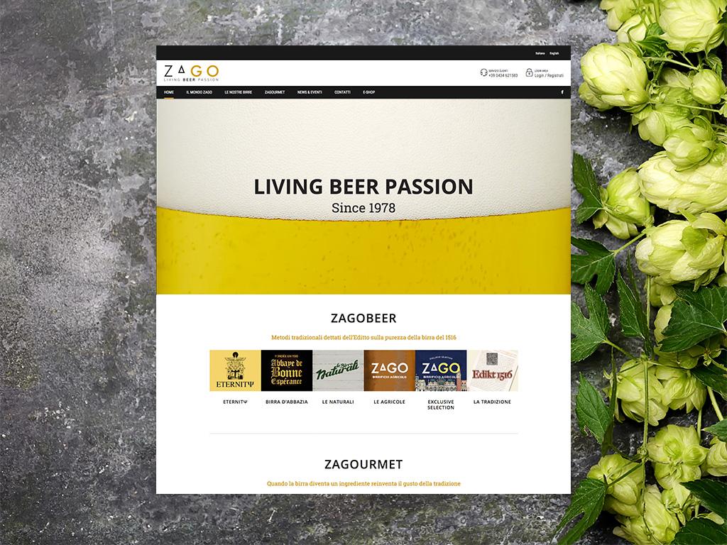 Presentazione prodotti – Sito Web Zago