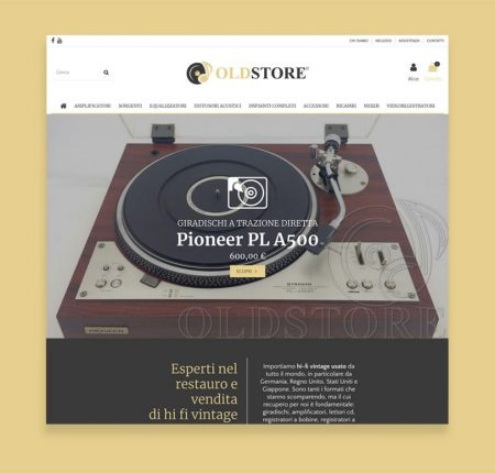Creazione e-commerce Old Store
